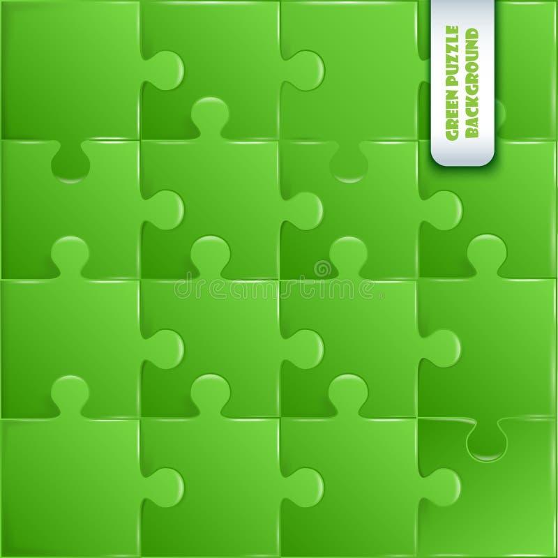 Grön plast- styckpussellek royaltyfri illustrationer
