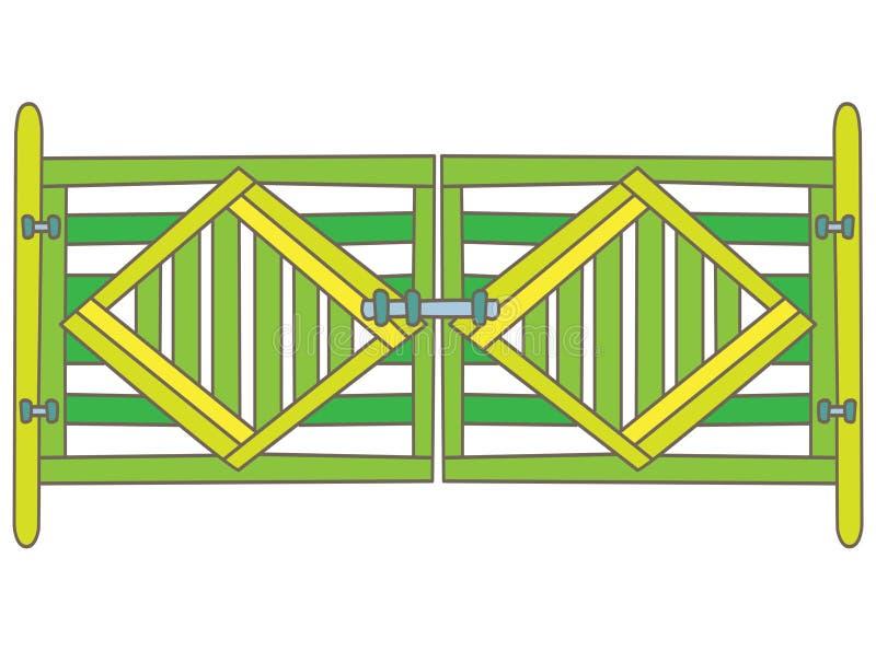Grön port royaltyfri illustrationer