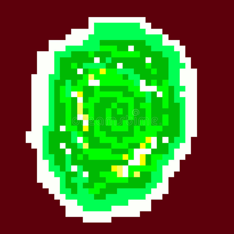 Grön portal för PIXEL stock illustrationer