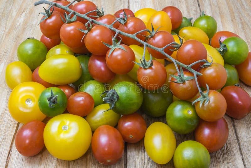 grön röd tomatyellow royaltyfria foton