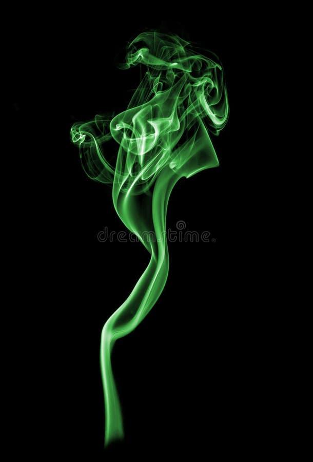 Grön rök. royaltyfri fotografi