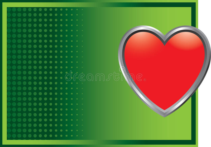 grön rastrerad hjärtasymbol för bakgrund vektor illustrationer