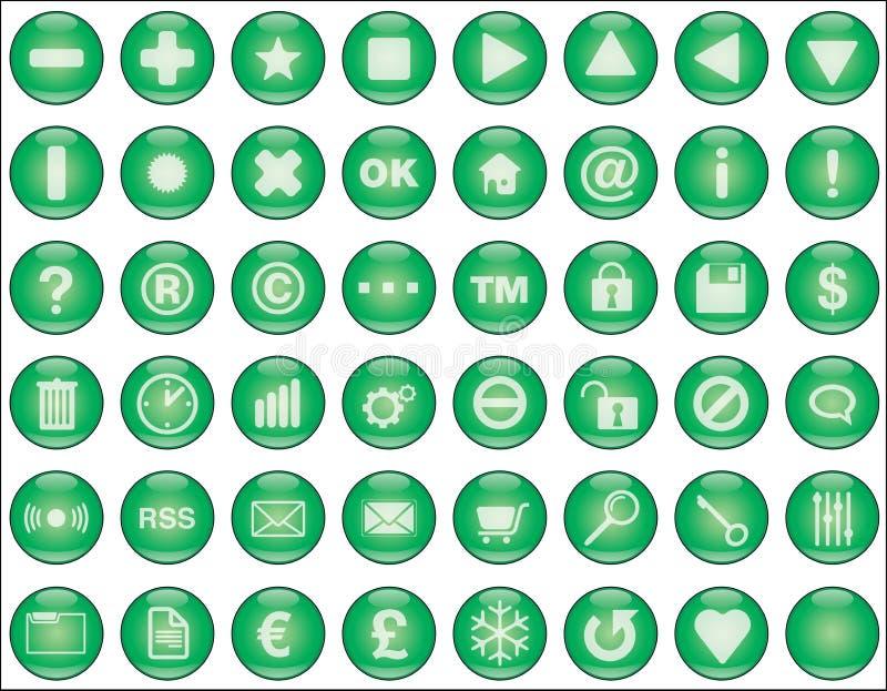 grön rengöringsduk för knappar vektor illustrationer