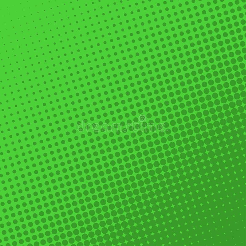 Grön retro humorboksidabakgrund Rastrerad effekt vektor illustrationer
