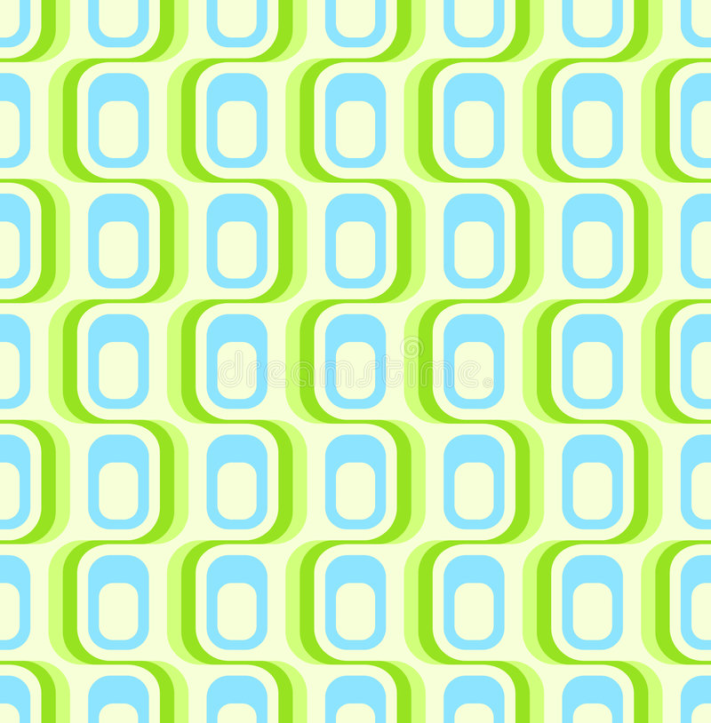 grön retro seamless wallpaper stock illustrationer