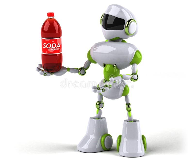 Grön robot - illustration 3D royaltyfri illustrationer