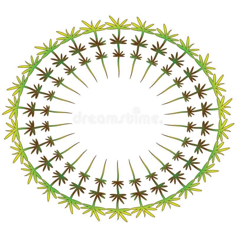 grön round för ram vektor illustrationer