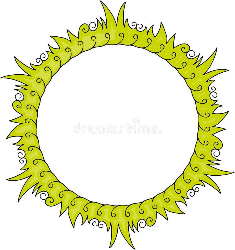 grön round för ram stock illustrationer