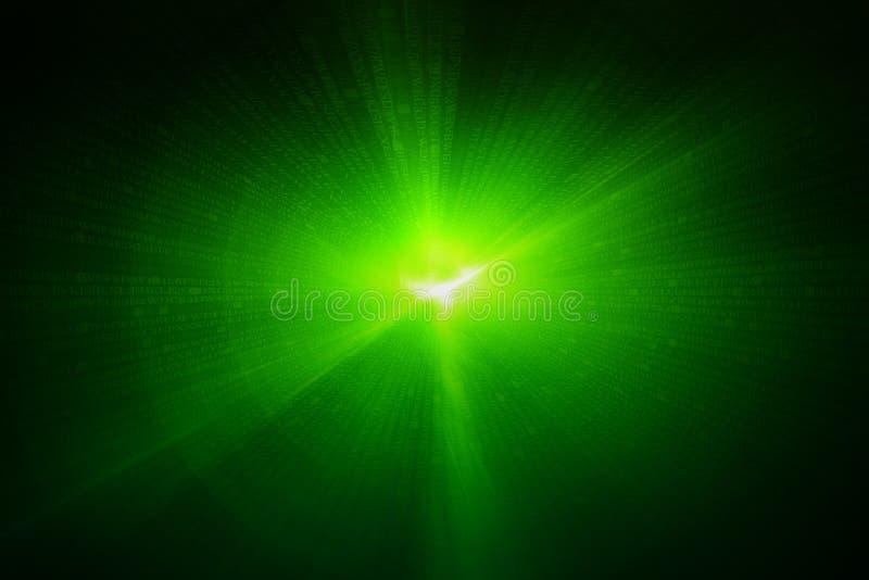 Grön rund glödvåg scifi- eller lekbakgrund vektor illustrationer