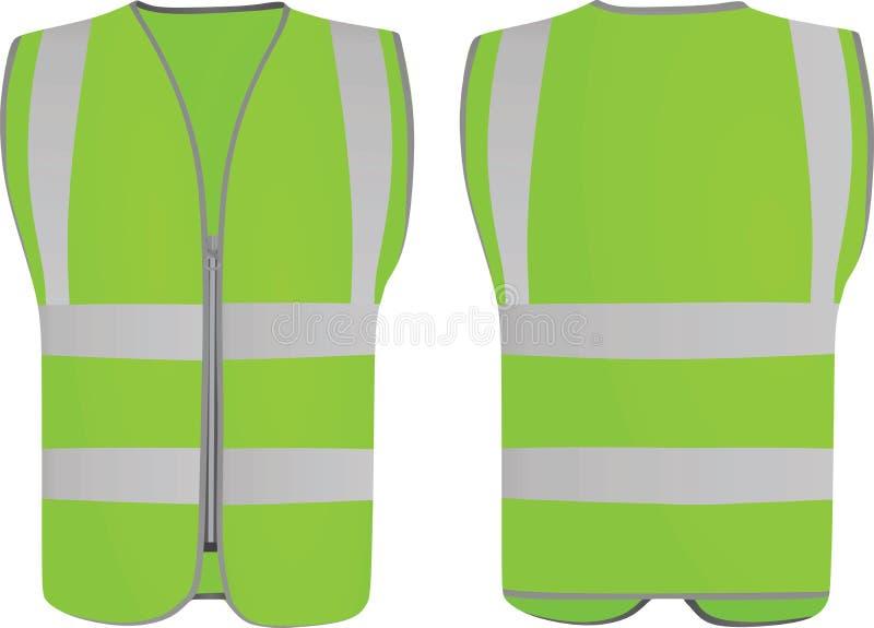 Grön säkerhetsväst royaltyfri illustrationer