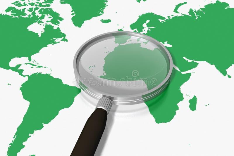grön sökande värld royaltyfri illustrationer