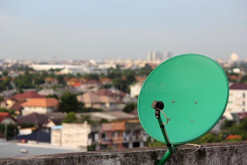 Grön Satellit. Royaltyfri Foto