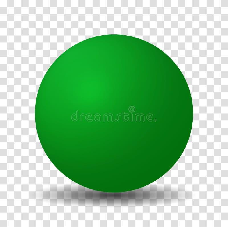 Grön sfärboll stock illustrationer