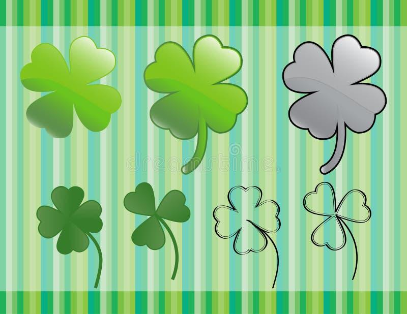 Grön shamrock royaltyfri illustrationer