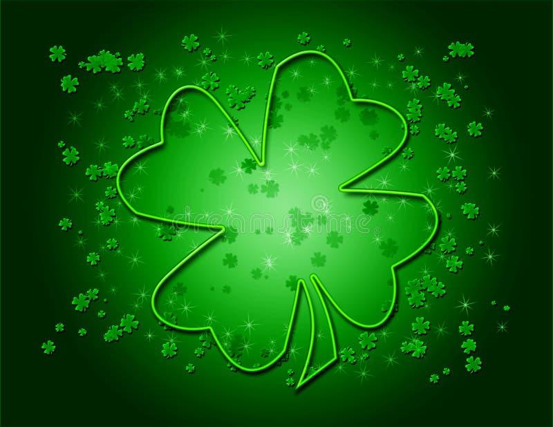 grön shamrock för bakgrund stock illustrationer