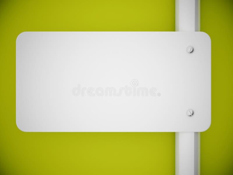 grön signboardvägg för framförande 3d royaltyfri illustrationer
