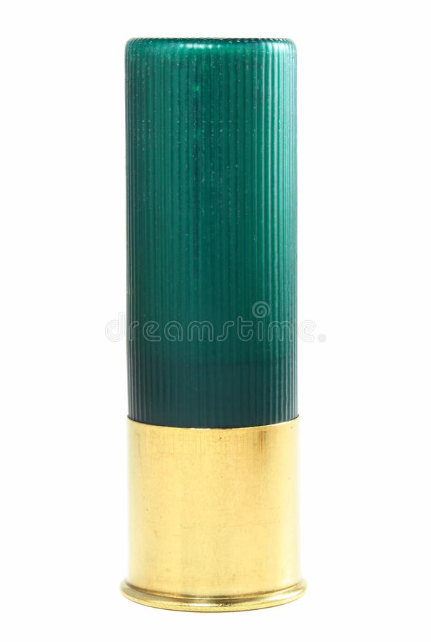 grön skalhagelgevär arkivbilder