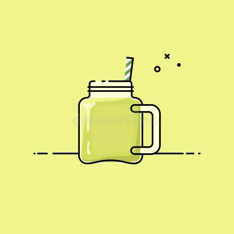 grön smoothie stock illustrationer