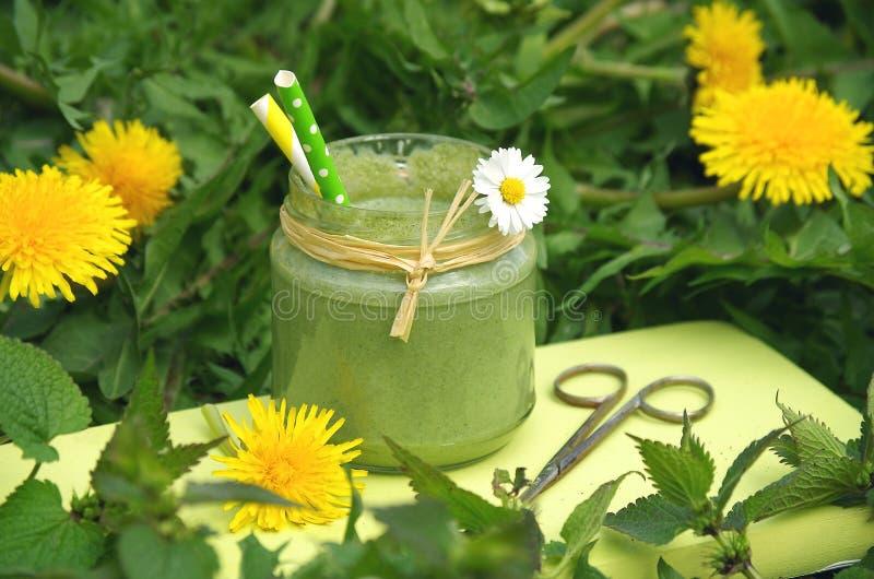 grön smoothie royaltyfria foton