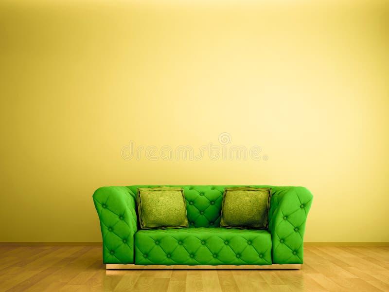 grön sofa royaltyfri illustrationer