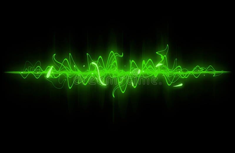 grön sound wave vektor illustrationer