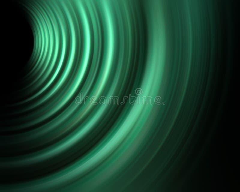grön sound wave för energi stock illustrationer
