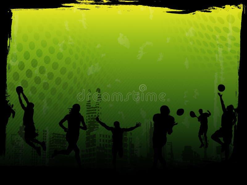 grön sportvektor för bakgrund vektor illustrationer