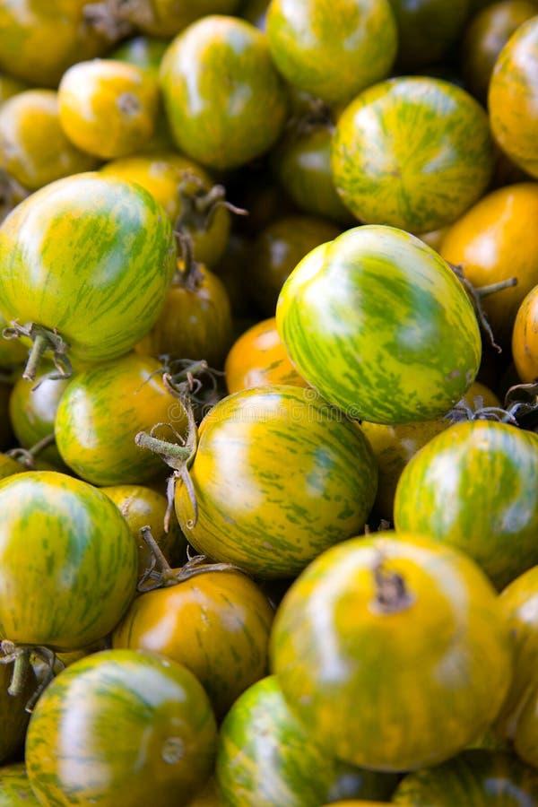 grön stapeltomatyellow fotografering för bildbyråer
