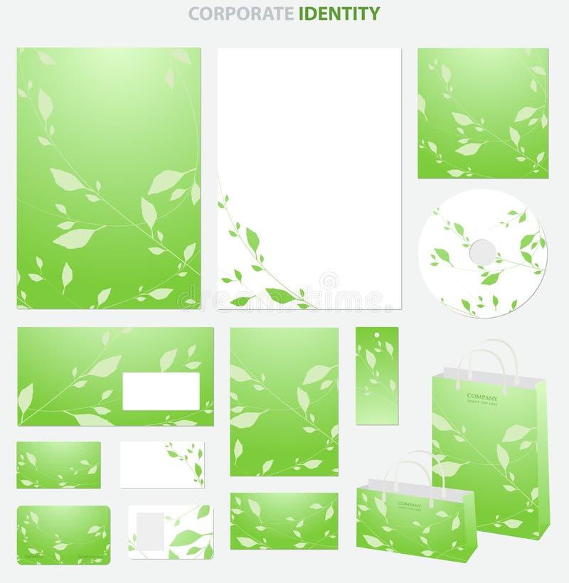 grön stil för affär vektor illustrationer