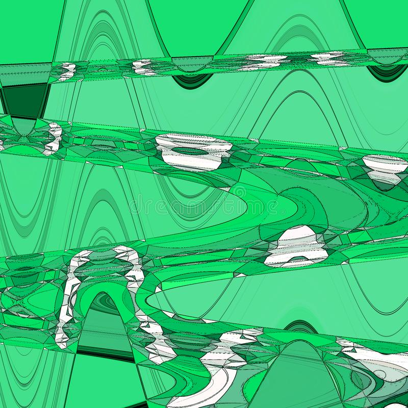 Grön stil för konst för papper för naturbakgrundsmall vektor illustrationer