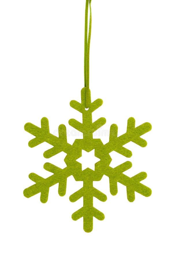 Grön stjärna, julgrangarnering arkivfoton