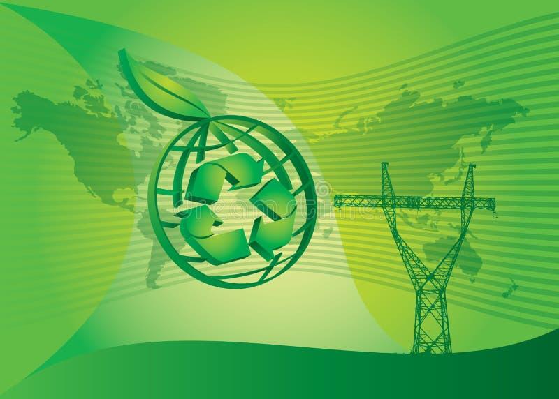 grön ström för energi vektor illustrationer