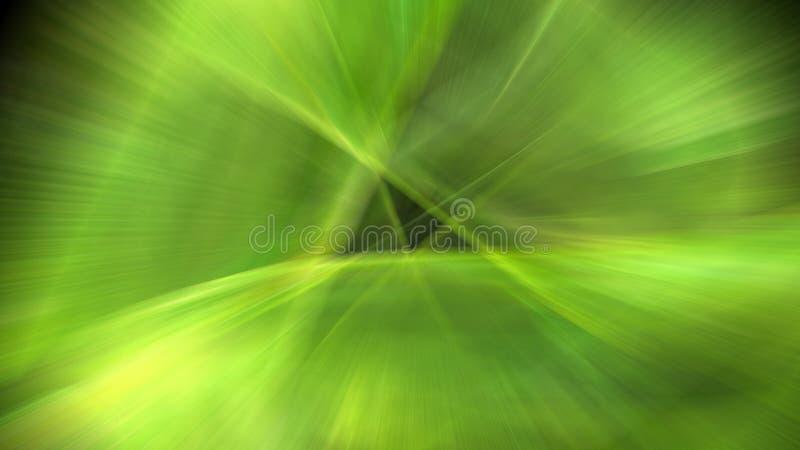 Grön suddig modell med triangeln royaltyfri illustrationer
