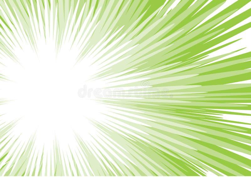 grön sun för stråle royaltyfri illustrationer