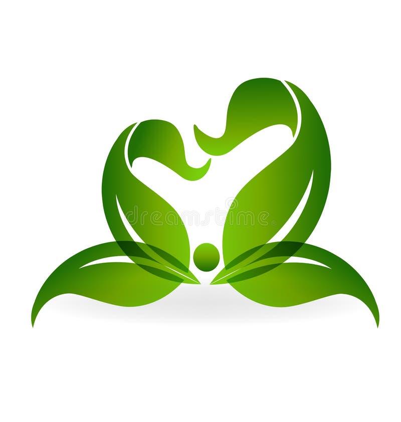 Grön sund livlogo stock illustrationer