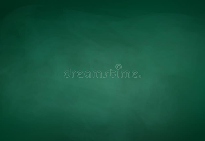 Grön svart tavlabakgrund stock illustrationer