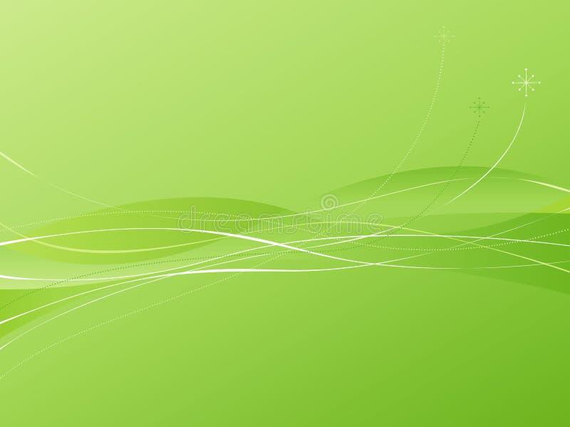 grön swooshie för backgroun stock illustrationer