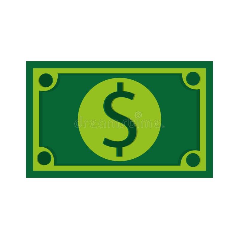 grön symbol för dollarräkning vektor illustrationer