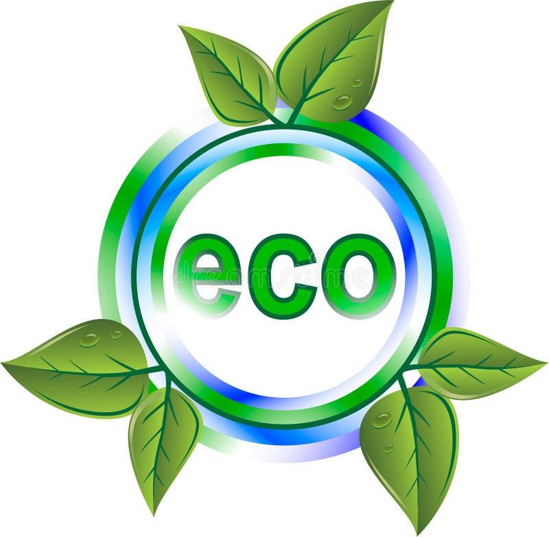 grön symbol för eco vektor illustrationer