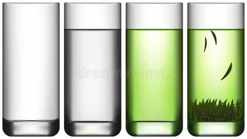 Grön tea royaltyfri illustrationer