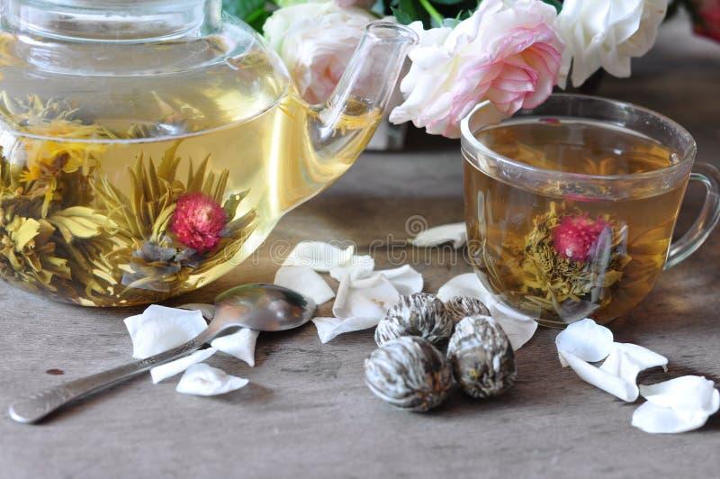 grön tea för elit arkivfoto