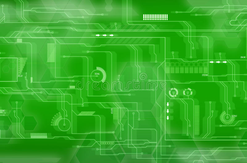 grön tech för bakgrund vektor illustrationer
