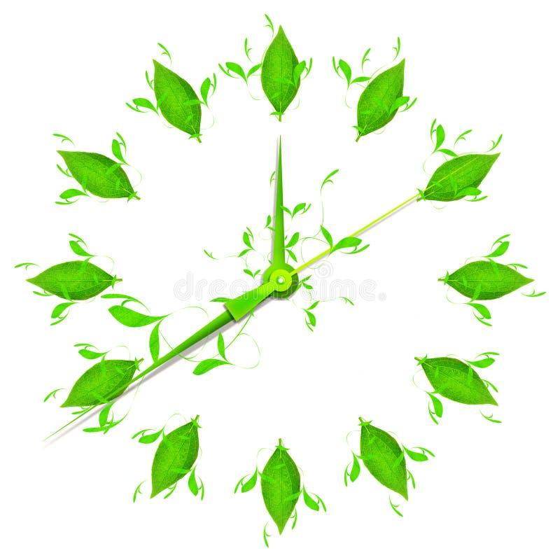 grön tid stock illustrationer