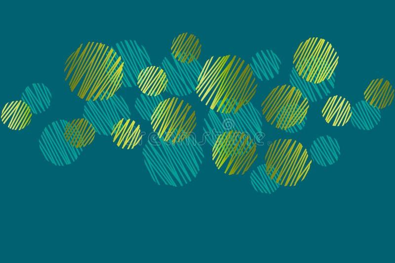 Grön titelradmodell för abstrakta runda prickar royaltyfri illustrationer
