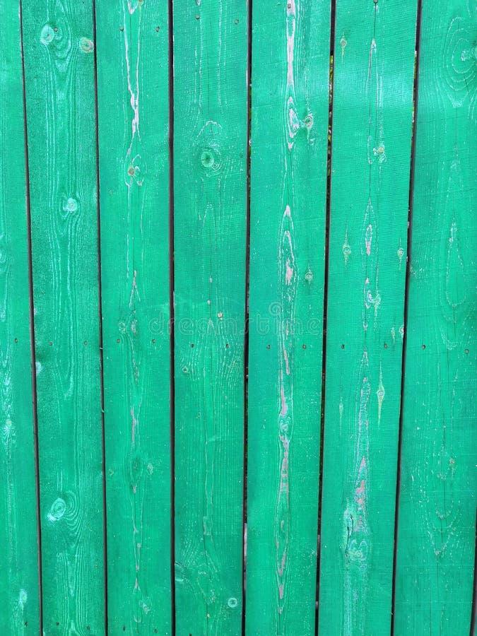 Grön träbakgrund för blå akvamarin - målad gammal träfasad royaltyfri fotografi