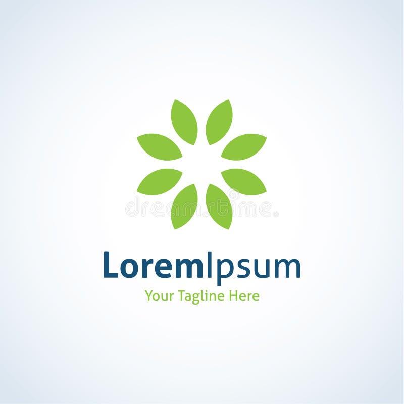 Grön trädgårds- symbol för logo för utopinaturkrans royaltyfri illustrationer