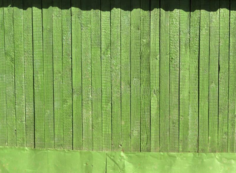 Grön trästakettextur royaltyfri fotografi