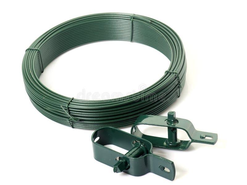 Grön tråd för trädgård royaltyfria foton