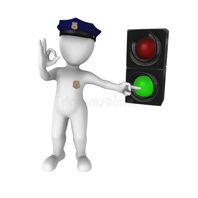Grön trafikljus - gå! vektor illustrationer