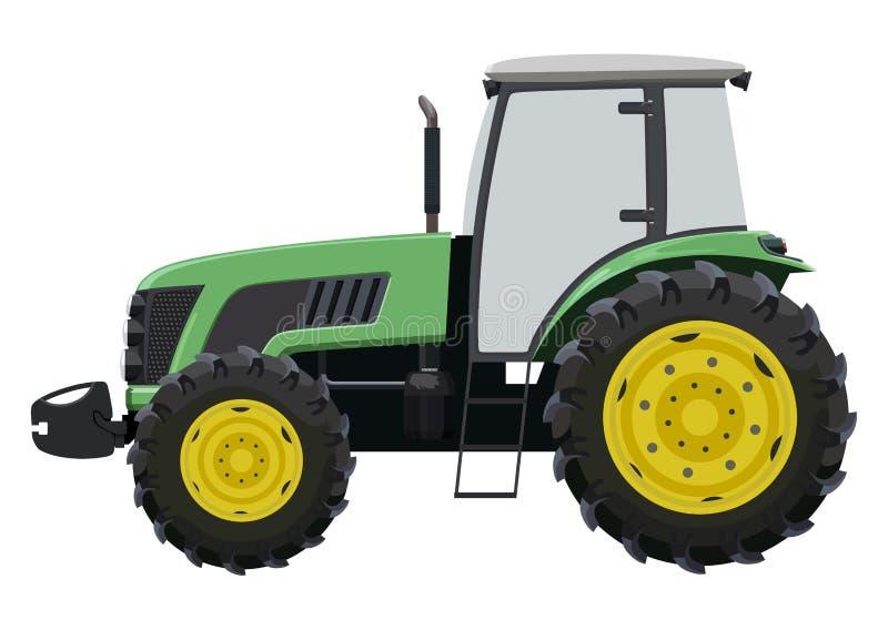 grön traktor vektor illustrationer
